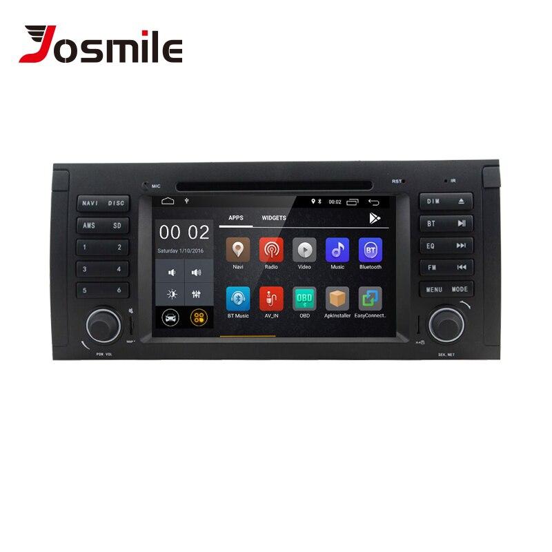 Lecteur DVD de voiture Radio Josmie 1 Din Android 8.1 GPS pour BMW E39 BMW X5 E53 M5 Multimeida Navigation Audio stéréo IPS écran tactile