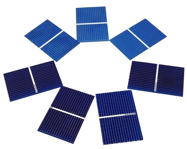 Aoshike 100pcs Solar Panel Sunpower Solar Cell photovoltaic panels Polycrystalline DIY Solar Battery Charger 0.5V 0.17W 39x26mm 6