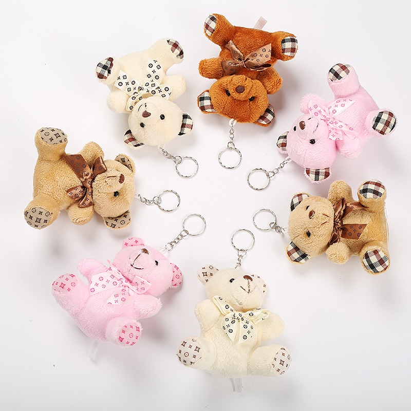 10CM Cute Keychain Plush Small Teddy Bear Plush Toys Stuffed Animals Fluffy Bear Dolls Soft Kids Toys Cute Bears