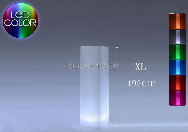 Chaud! LED carré lumière tour rechargeable lampadaire extérieur colonne lumineuse LED bloc lumière coloré carré colonne lumière