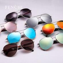 Fenchi 2017 солнцезащитные очки Металл жарких лучей драйвер Пилот Зеркало Мода Новый красочный дизайн солнцезащитные очки высокое качество
