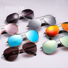 sunglasses high quality pilot mirror fashion design new colourful sunglasses