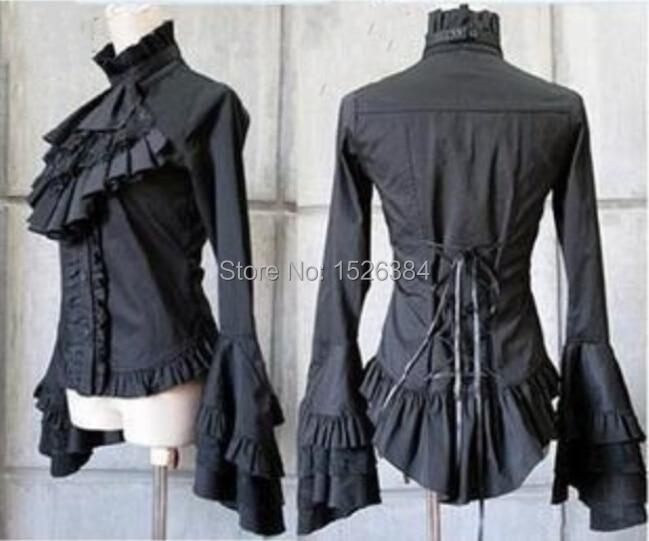 Flare Manches Coton Gothique Lolita Blouse L5