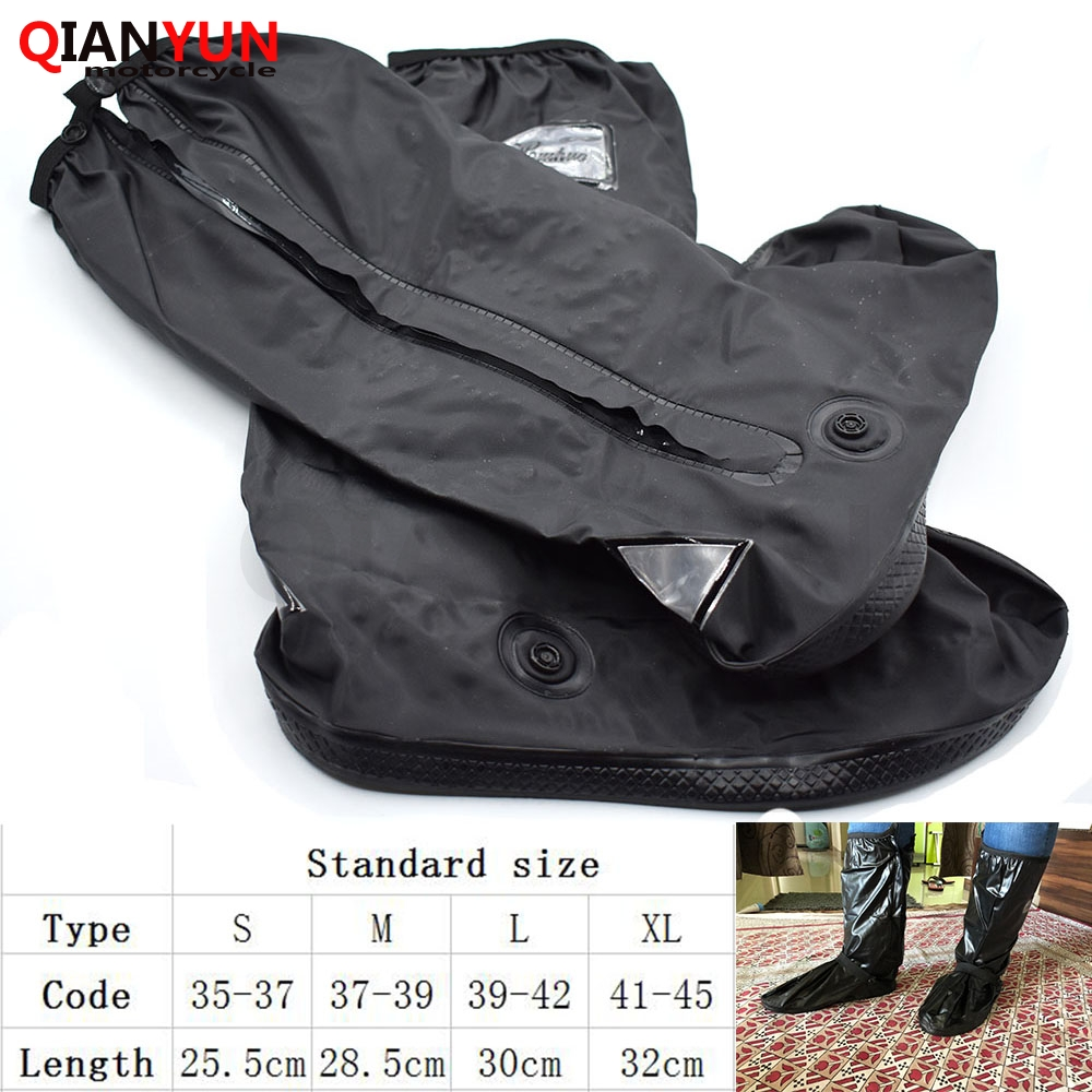 Retail and wholesale waterproof reusable motorcycle cycling rain boots shoe covers easy to ride
