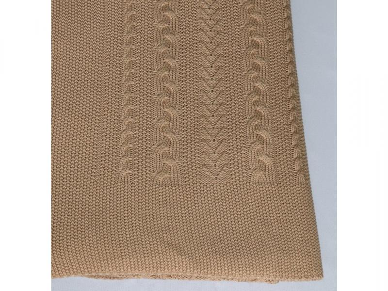 Plaid knitted Braid (camel) force 4651