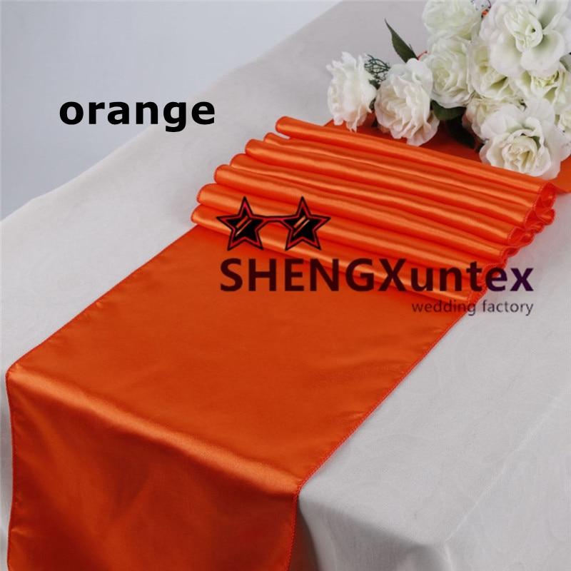 20PCS Orange Satin Table Runner \ Table Cloth Decoration(China (Mainland))