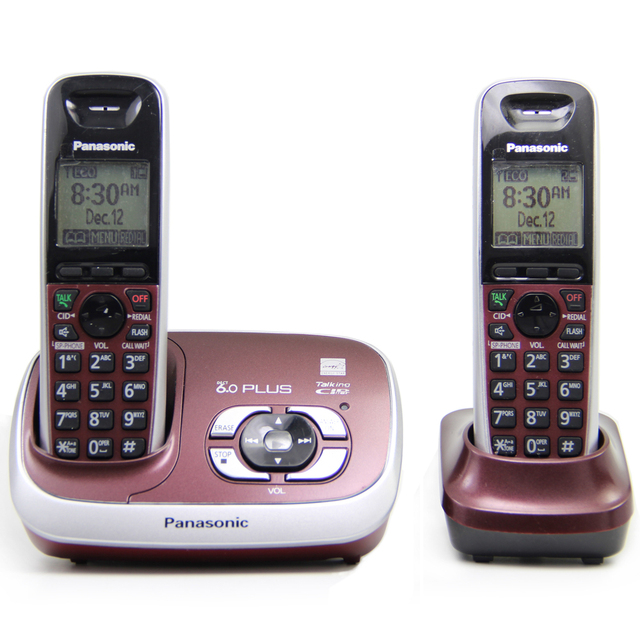 a61fc5f15e58 KX-TG6531 DECT 6.0 PLUS Expandable Digital Cordless Phone with Answering  System Home Telephone Set, 2 handsets