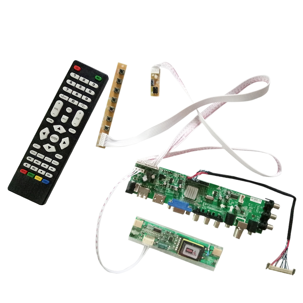 Digital DVB C DVB T DVB T2 LCD Controller Driver Universal TV Board-in Satellite TV Receiver from Consumer Electronics    1