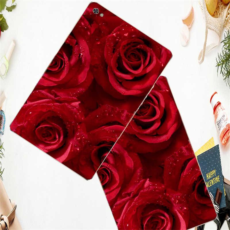 Роза роспись Tablet крышка для huawei Mediapad Медиа Pad T5 M5 8,4 10,8 Dtab M3 Lite 8,0 M2-801l Btv-dl09 силиконовые на выбор