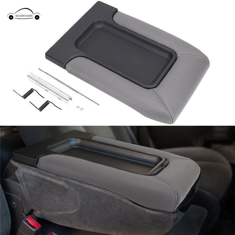 Car Leather Center Console Armrest Cover Lid Cap For Chevrolet Chevy Tahoe Silverado 1500 2500 3500 Suburban GMC KOLEROADER // free shipping jdmspeed chrome spike lug nuts 14x1 5 for chevy silverado tahoe 4 4 tall w key 24 pcs