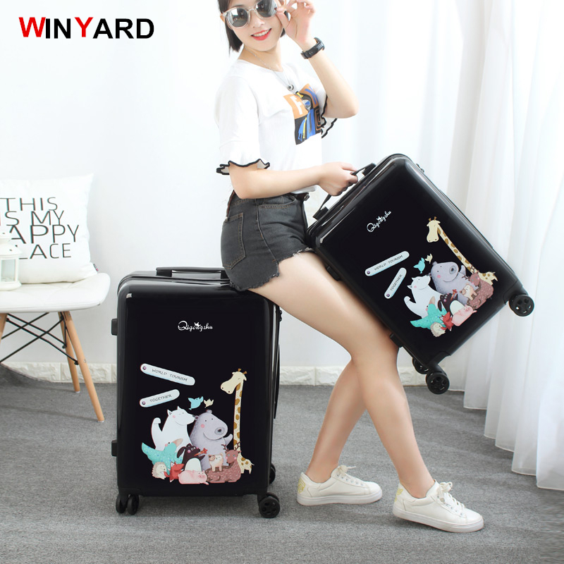 Trolley font b luggage b font travel bag small fresh24 20 universal wheels font b luggage
