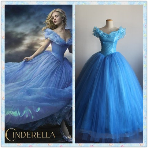 Adult Princess Cinderella Costume Cosplay Deluxed Fancy Stage Dress US SHIP