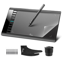 Parblo A610 (Ugee M708) 10x6 Art Graphics Drawing Pen Tablet Tableta Grafica 5080LPI + Protective Film + Glove + 10 Pen Tips parblo a610 10x6 graphics tablet art drawing tablets usb support protective film anti fouling glove spare pen nibs