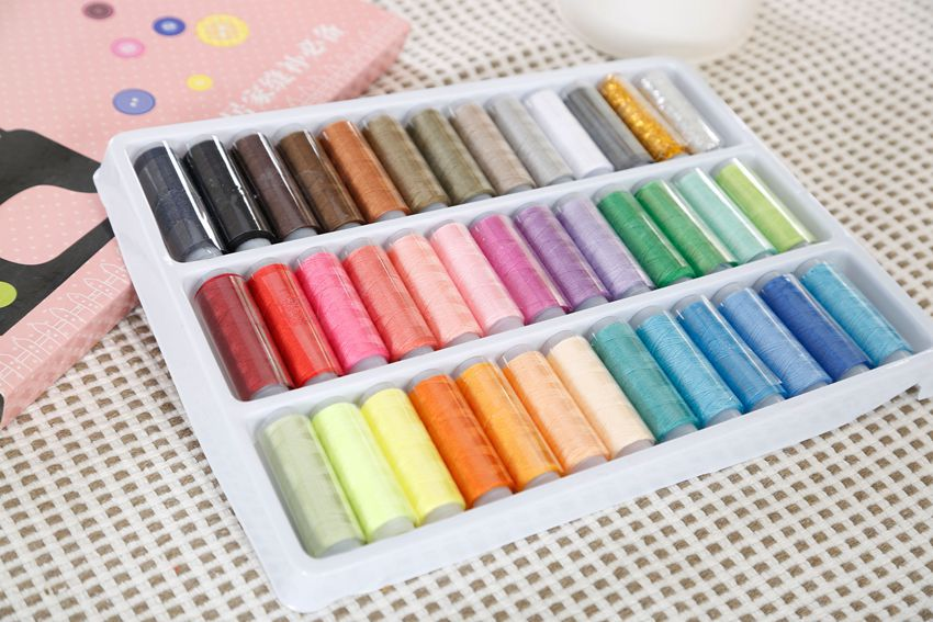 39colors Sewing thread ,Random Color mixed yarn polyester