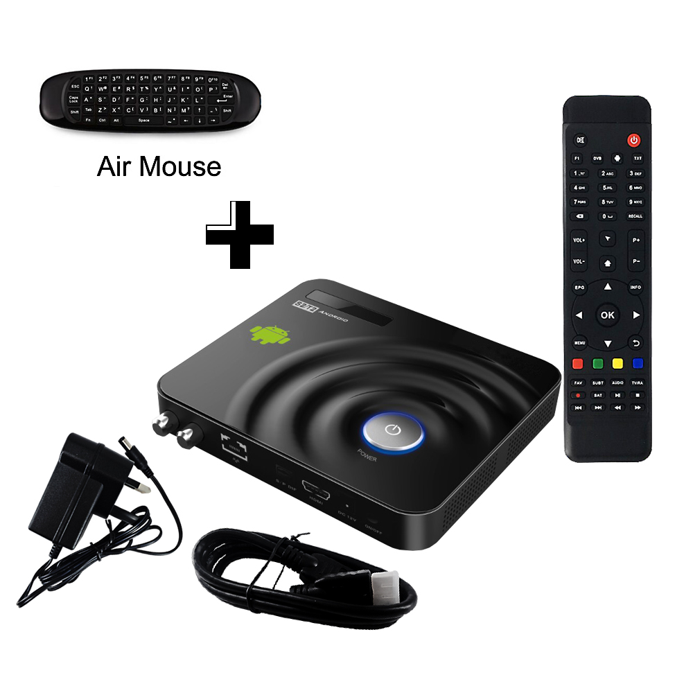 IPTV Androide Caja de la TV DVB-S2 decodificador de Satélite Dual-core Fly Ratón