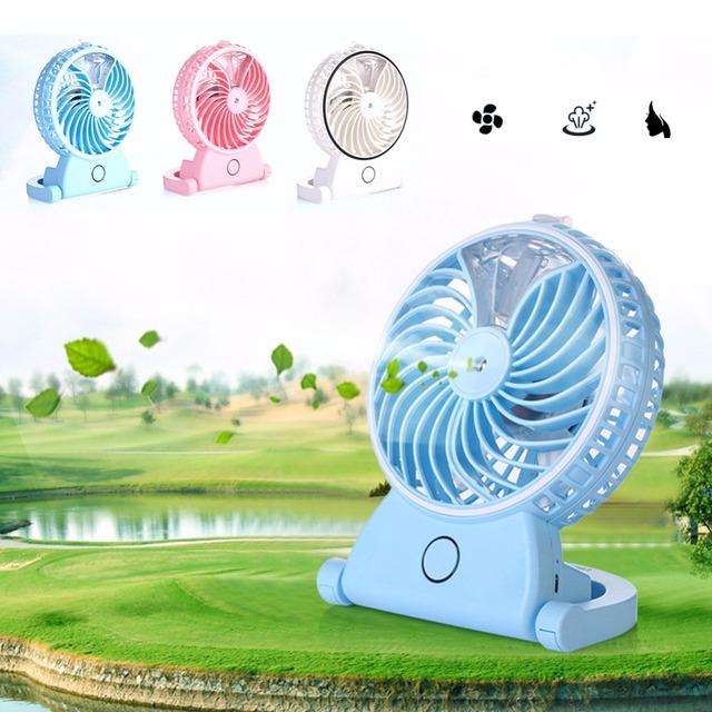 Recargable portátil de mano ventilador del humidificador USB oficina del verano de refrigeración niebla del agua agua pulverizada aire acondicionado hidratante ventilador