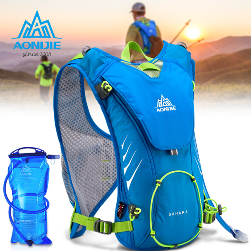 AONIJIE High Quality Outdoor Sports Lightweight Running 8L Backpack Marathon Cycling Hiking Bag With+ 1.5L Hydration Water Bag aonijie men women outdoor sports lightweight running 8l backpack marathon cycling hiking bag with 1 5l hydration water bag