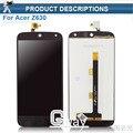 Qualidade original display lcd preto para acer liquid z630 z630s lcd com painel de toque digitador assembléia substituição + ferramentas gratuitas