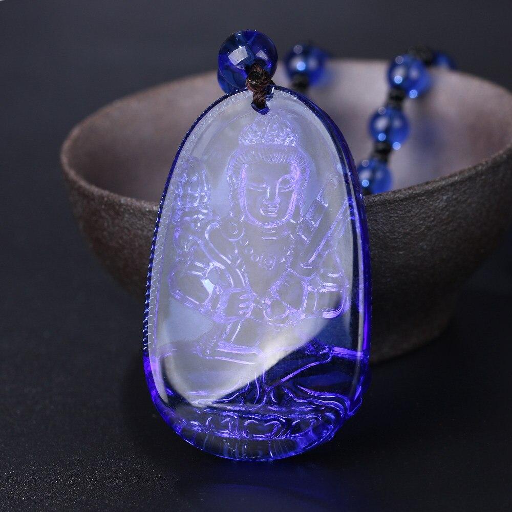 Buddha di giada Ciondolo Gioielli Ciondolo Collana Catena Regalo Fortunato di Cristallo Intagliato Belle Signore Gioielli Uomini Della Copertura di Cristallo Perline di Preghiera