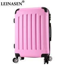 цена Luggage ABS+PC new style fashion luggage 20 24 inch trolley suitcase travel bag luggage bag Rolling luggage with spinner wheel онлайн в 2017 году