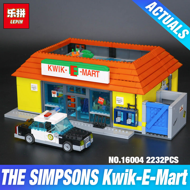 LEPIN 16004 16005 Movie Simpson House 71006 71016 KWIK-E-MART Model Toys Building Blocks Bricks DIY Educational Christmas Gifts