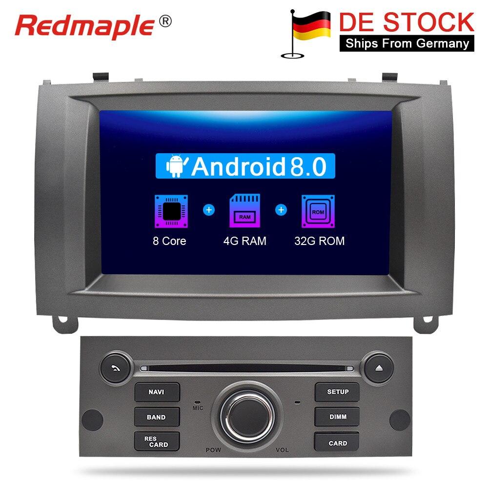7 Android 8.0 Voiture DVD Lecteur Multimédia Stéréo Pour Peugeot 407 2004 2005 2006 2007 2008 2009 2010 Auto radio GPS Navigation