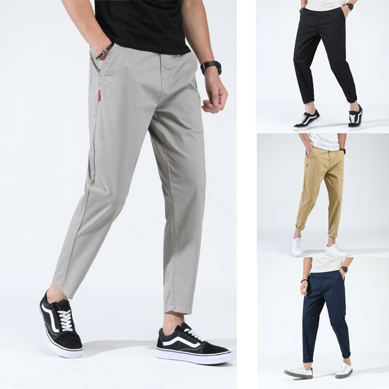 Men's Casual Pants Loose Baggy Harem Taper Fit Stretch Cropped Pants Plus Size 28-48