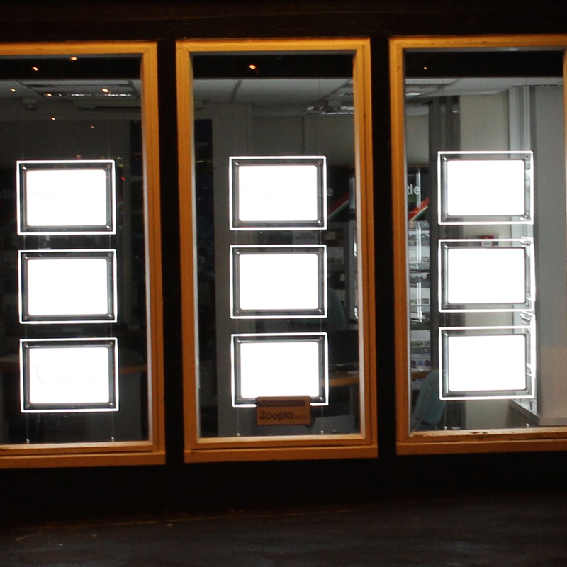 LED Leuchtet Immobilien Auflistung Schaufenster A4 Acryl ...