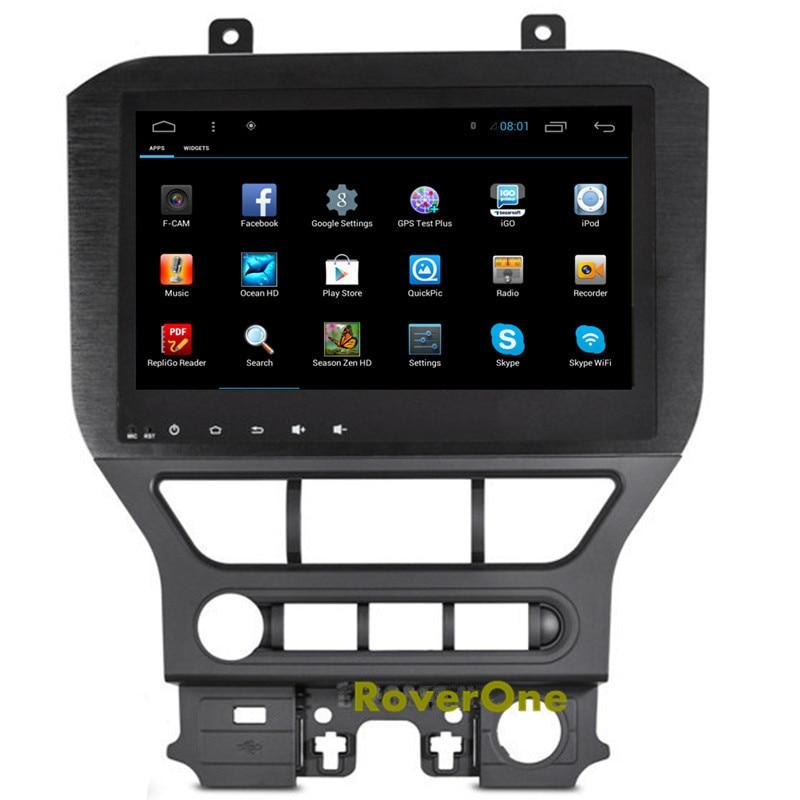 Pour Ford Mustang 2015 2016 2017 Android 6.0 Autoradio Voiture Multimédia Lecteur Multimédia GPS Navigation Système Bluetooth Miroir Lien