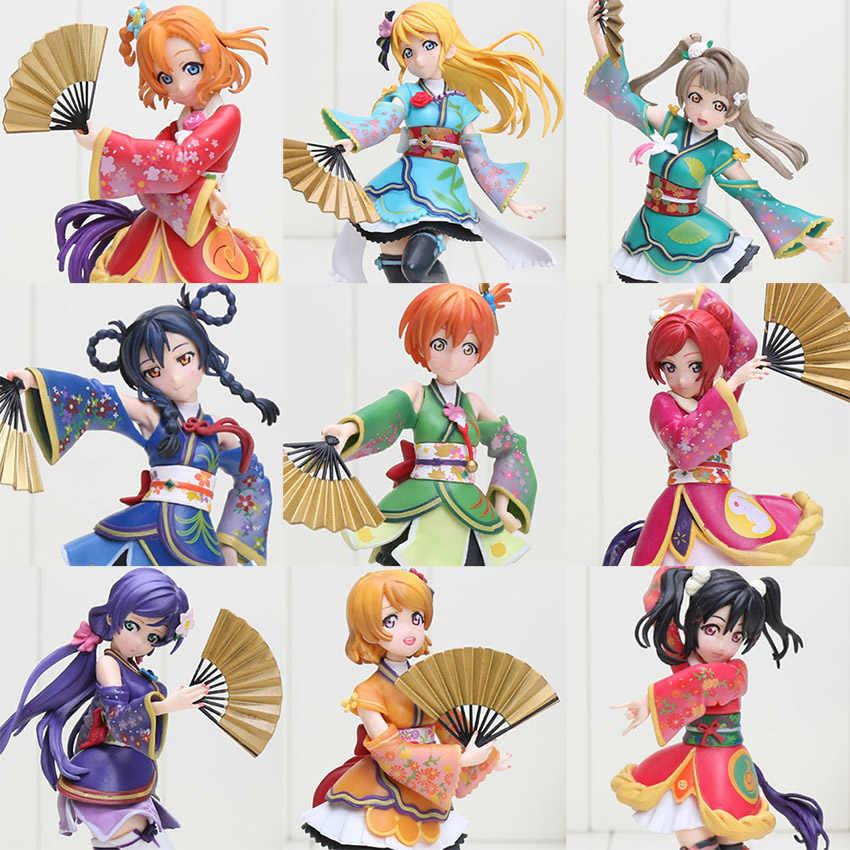 Anime 17 cm Cinta live action figure fate nol MINAMI KOTORI TOJO NOZOMI KIMINO SONODA UMI HOSHIZORA RIN PVC koleksi mainan