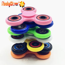 1 pc Rainbow Fidget Spinner Colorful Handspinner Antistress Finger Gyro Top Spinner toy for kid Busy Board ABS Plastic figet toy(China)