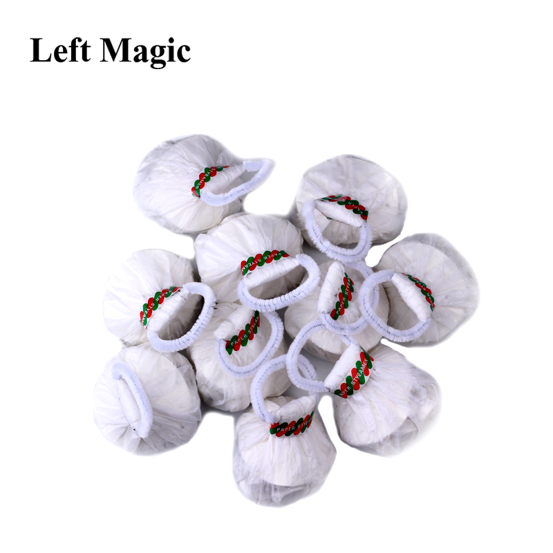 Throw Streamers (10 Pieces/Pack 30 Strands) Magic Tricks Multicolor Or White Spider Thread Magic Props Accessories Stage Magic