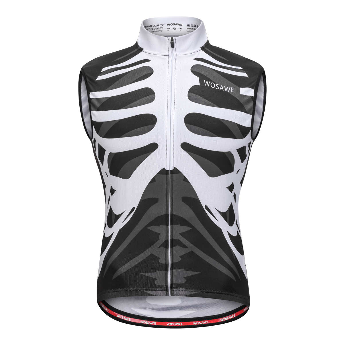 WOSAWE Summer Bicycle Cycling Jersey Men Short Long Sleeveless Shirts Breathable Bike Clothing Sportswear Cycle MTB Jersey in Cycling Jerseys from Sports Entertainment