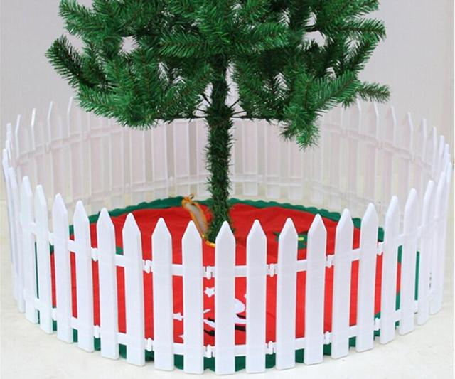 2017 free shipping christmas tree decorations christmas tree white plastic fence garden decoration supplies