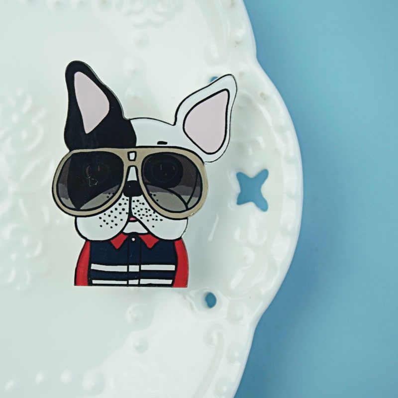 1 قطعة Kawaii كول الكلب عبقور البطاطس الاكريليك شارة الحيوان الكرتون الرموز دبابيس على ظهره الملابس بروش طفل هدايا حفلة عيد