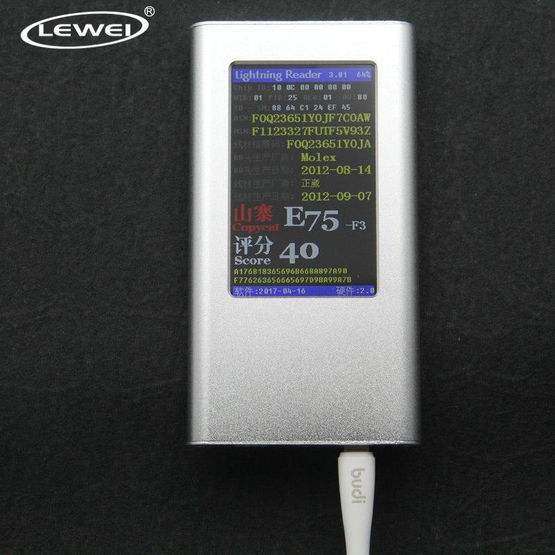 LEWEI Câble Testeur pour iPhone 8 7 6 s 6 LCD écran De Protection identificateur de Câble ID Lecteur de Code Match IOS10 11 système