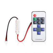 free shipping 12A 5V-24V LED RF Wireless Mini Remote Dimmer Controllers Controller