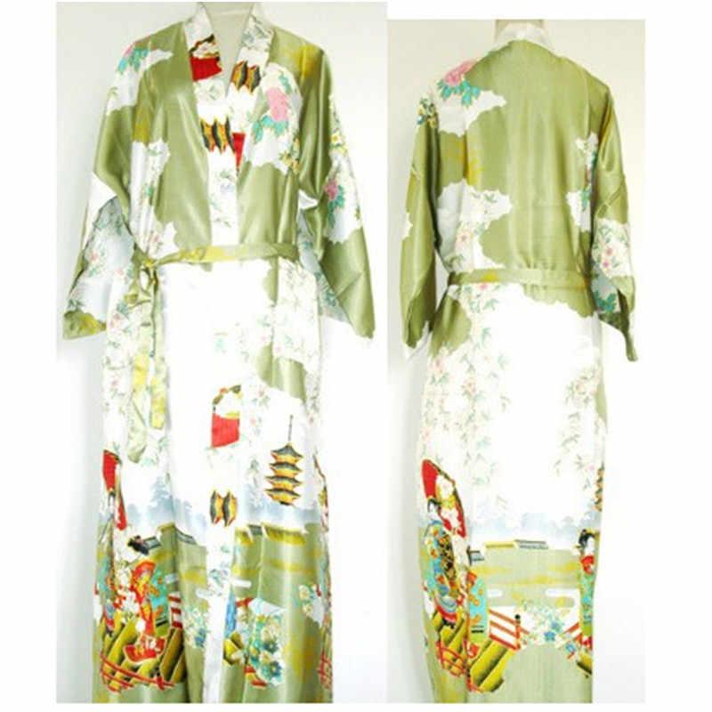 Бордовый Модный китайский женский Полиэстер Сатин окрашенный кафтан Peri банный халат-кимоно халат с поясом Плюс Размер m-xxxl