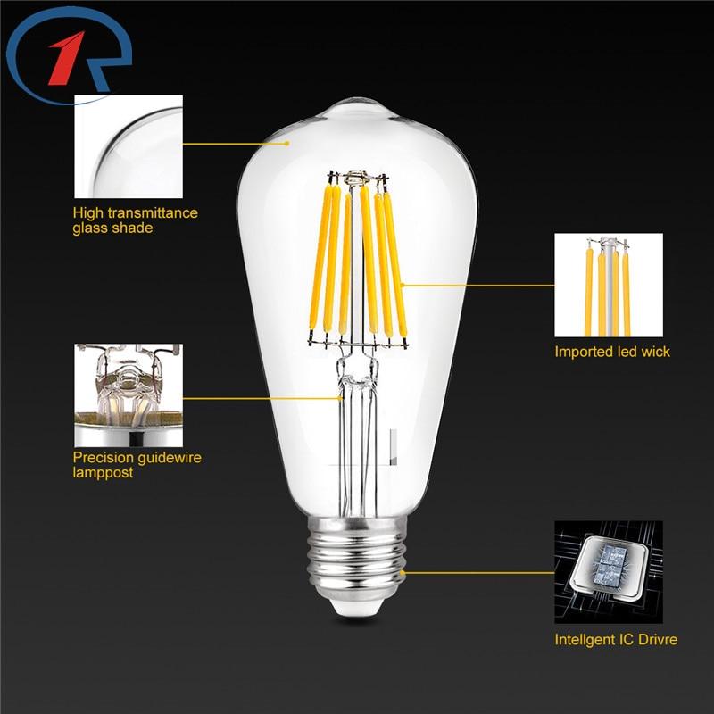 ZjRight 8W E27 COB Energy Saving LED light bulb Living room,bedroom,indoor,home,library,office,factory tube Lamp led flame bulb