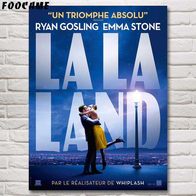 FOOCAME La La Land Movie Posters Wall Art Prints Zijde Decoratieve Foto 'S Voor Woonkamer Slaapkamer Home Decoratie Schilderen Decor