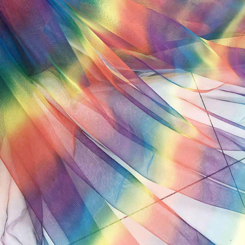Rainbow Organza Voile Fabric Curtain NHS Childrens Theatre Costume Fancy Dress