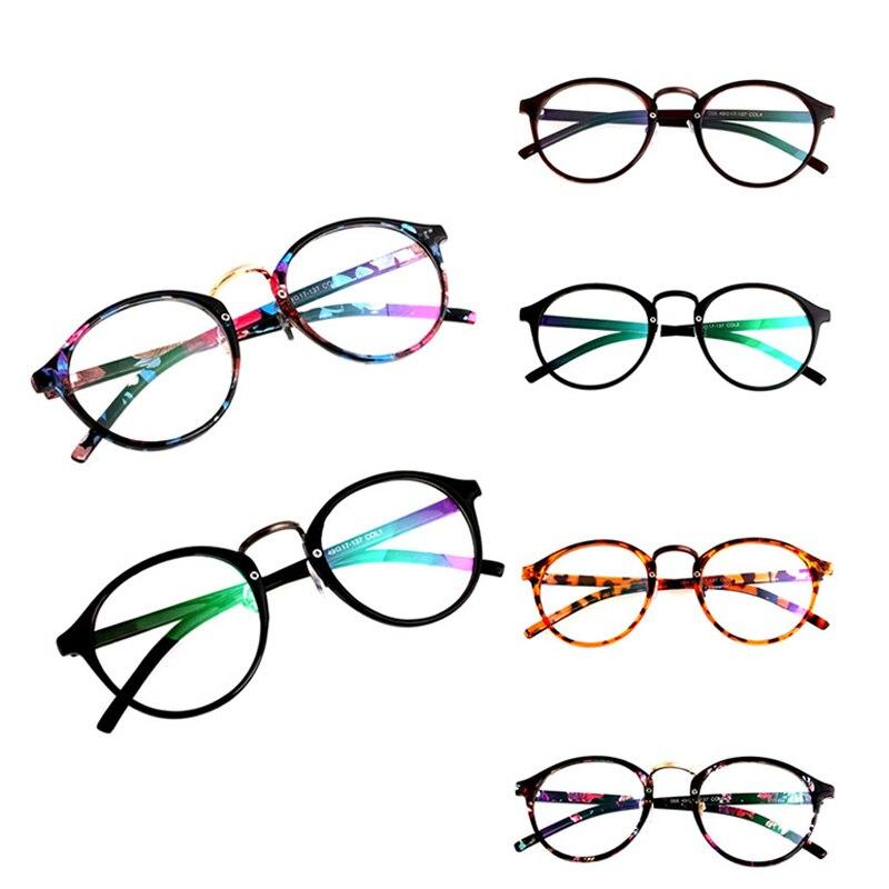 ᑎ‰Moda unisex Retro Vintage círculo redondo Marcos claro lentes ...