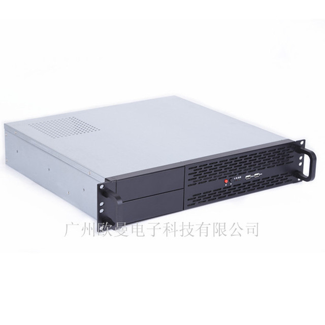 Short 2U Chassis Computer Case 2 hard drive 2-bit bit Power PC / IPC server machine