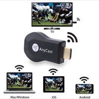 Anycast M2 плюс Miracast Chome литой беспроводной hdmi 1080 p ТВ карты Адаптер Wi Fi дисплей зеркало приемник ключ для ios android