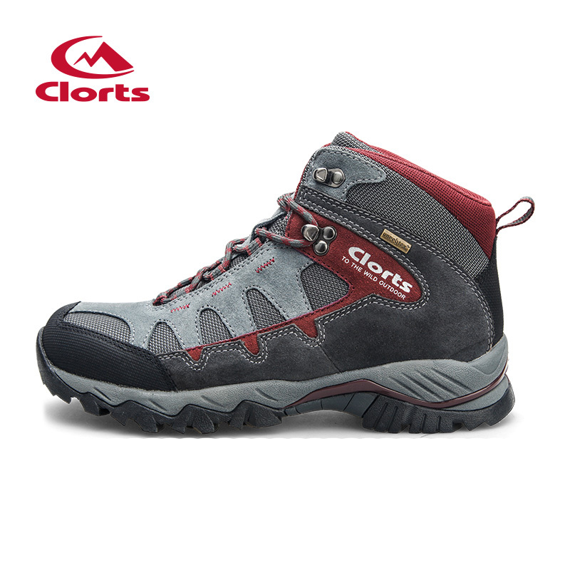 ФОТО New Clorts Outdoor Shoes Men Hiking Boots Waterproof Sport Shoes Non-slip Mountain Shoes Climbing Boots HKM-823A/B/C/D