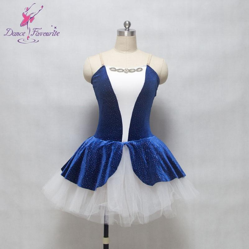 Camisole royal blue velvet bodice girl & women stage performance ballet tutu, High quality and nice design ballet tutu