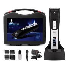 Profissional Aparador de Cabelo Elétrico para Homens Recarregável Beard Hair Clipper Máquina de Corte de Cabelo Lâmina de Cerâmica Preta para o Barbeiro