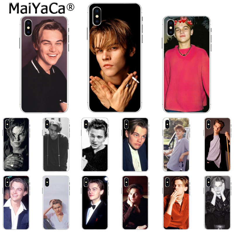 MaiYaCa Leonardo Dicaprio Young Novelty Fundas Phone Case Cover For IPhone 6S 6plus 7 7plus 8 8Plus X Xs MAX 5 5S XR