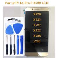 """5.5 """"LCD D'origine Pour LeTV Le Pro 3 LeEco Écran Tactile pour LeTV LeEco Du Pro3 X720 X725 X727 X722 X728 x726 D'affichage À CRISTAUX LIQUIDES"""