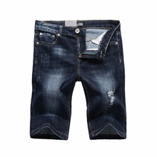 Dsel brand denim short jeans men's summer thin section pants men summer holes in the pants loose large size men's denim shorts
